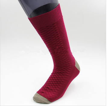 Custom men comfortable cotton dress socks