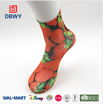 Newest Custom manufacturer sublimation digital printing socks