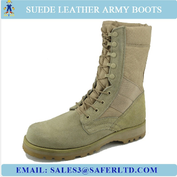 Suede leather military army desert boots