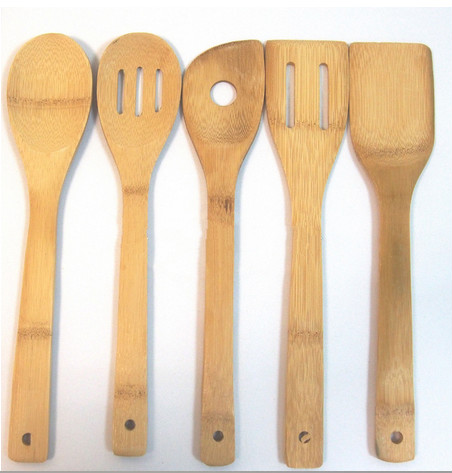factory Wholesale nature bamboo kitchen tool set