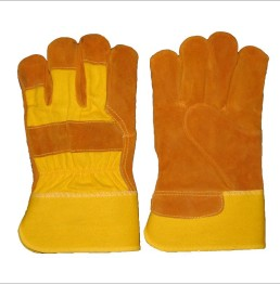 Hot sale cow split leather gloves/leather gloves/leather gloves