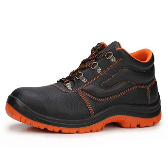 Zhejiang three months grarantee safety footwear, embossed PVC artificial leather footwear