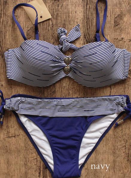 new arrive beach sexy stripe sexy bikini black halter bikini