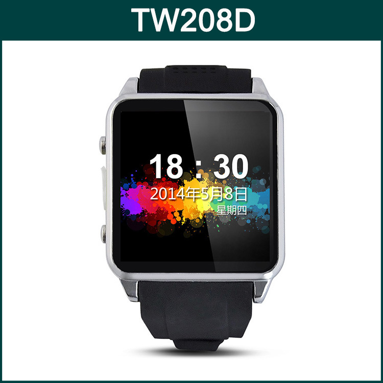 Original 1.54 Inch Screen MTK6260 Bluetooth 3.0 Waterproof IP54 Support Micro SIM SD Card Smart Phone TOP WATCH TW208D