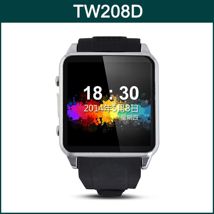 Original 1.54 Inch Screen MTK6260 Bluetooth 3.0 Waterproof IP54 Support Micro SIM SD Card Smart Phone TOP WATCH TW208D