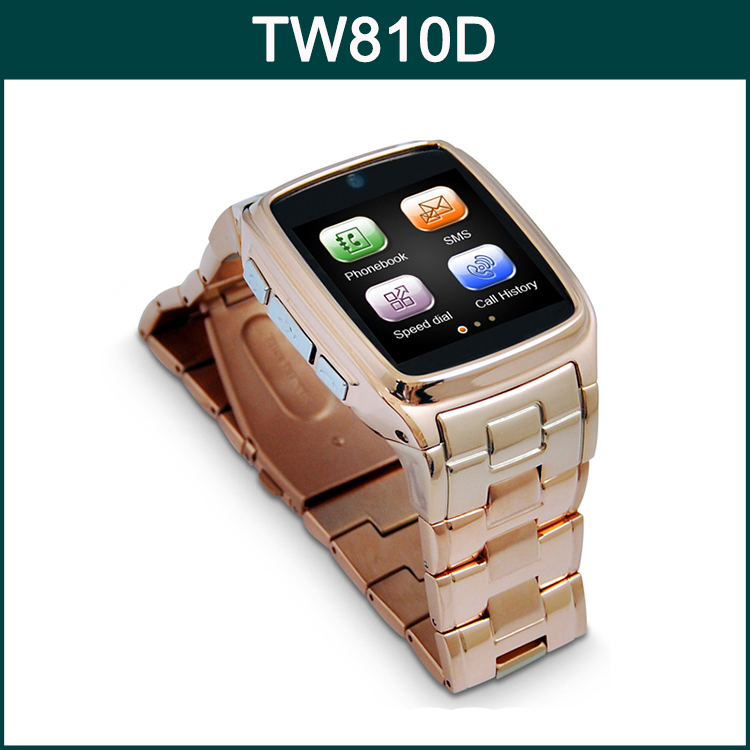 Original 1.54 Inch Screen MTK6260 500mAh Battery Support Anti-List with 1.3MP Camera Smart Phone TOP WATCH TW810D