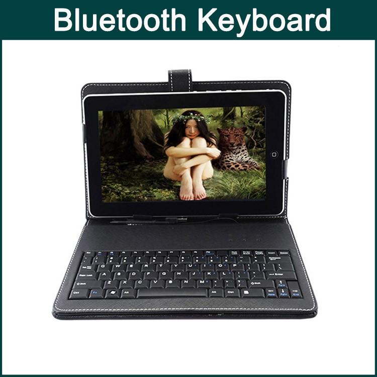 High Quality Protective Leather Case Bluetooth Keyboard Tablet PC