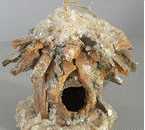 for Christmas Decoration Natural Material Bird House
