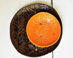 4.5'' palm leaf round bowl