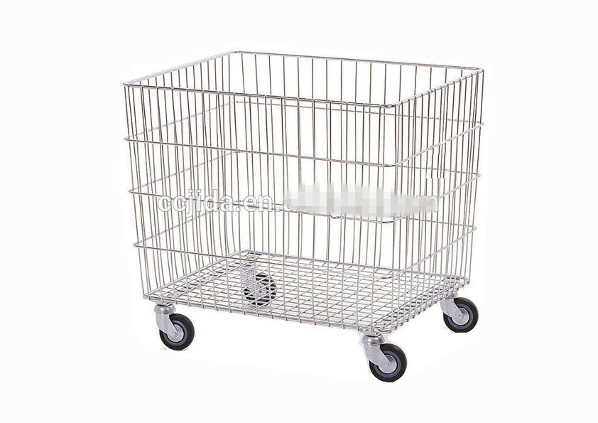 Steel foldable storage cage