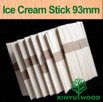 Direct Manufacturer Ice Cream Sticks 93mm Wooden Stick
