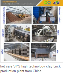 hot sale SYS high technology clay brick production plant from China