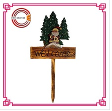 2015 new wood welcome sign for outdoor christmas decorations