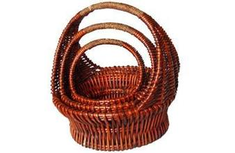 Poplar wooden basket