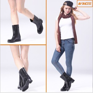 PVC Fashion Lady's Rain Boots