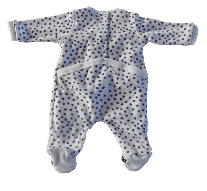 Best selling embroidery style knitted baby romper (velvet)
