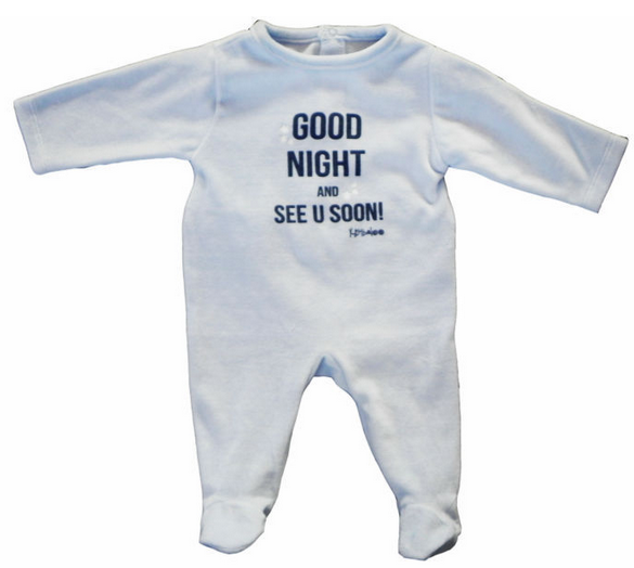 Good night long sleeves baby romper with plain color;boys rompers;romper for baby