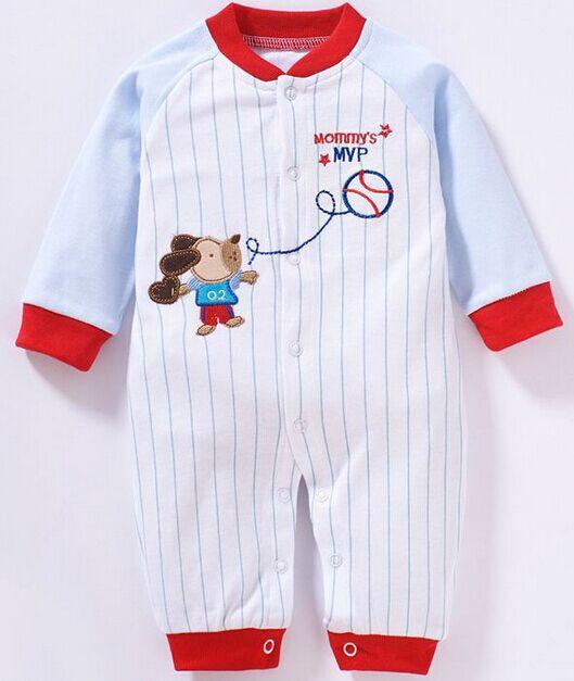 100% cotton interlock baby long sleeve comfortable romper