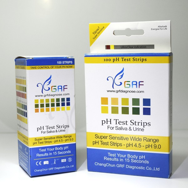 Sensitive universal pH testing strips