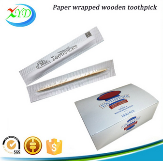 Disposable paper wrapped travel toothpick