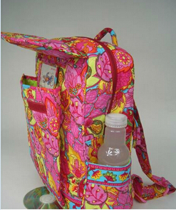 Quilted Cotton Large Backpack School backpack