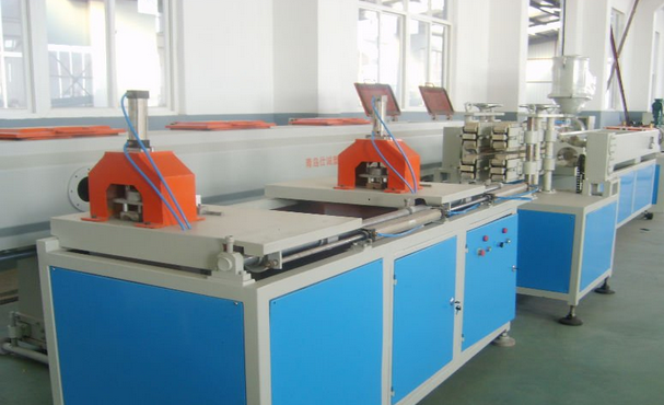 GF-63 PVC twin pipe extrusion line