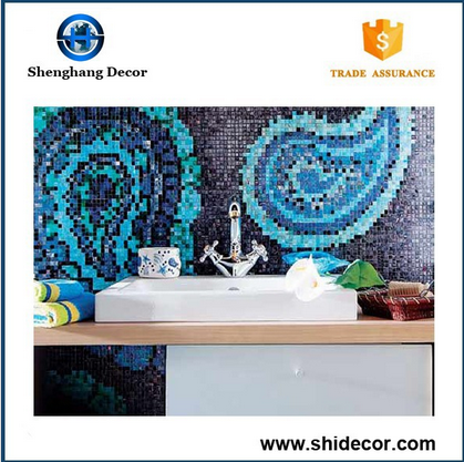 Cheap Seashell mosaic tile on ceramic tile