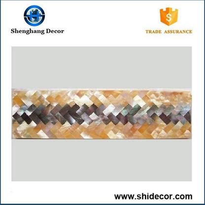 High quality cheap sea shell mosaic border