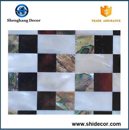 High quality cheap sea shell mosaic border