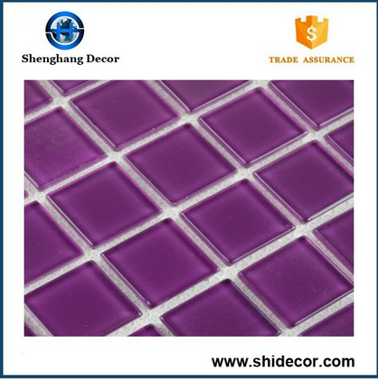 Purple beautiful glass mosaic tile for wall decoration