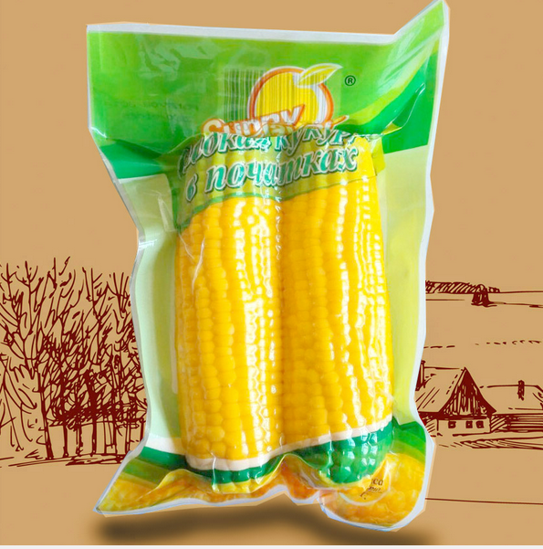 Double Sweet Corns in Vacuum Bag