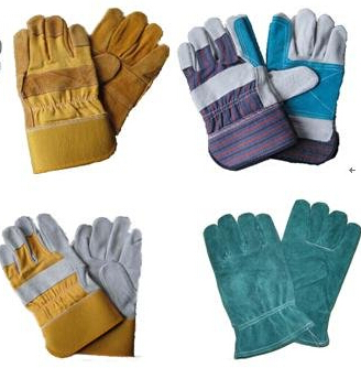 cow split leather safety working gloves
