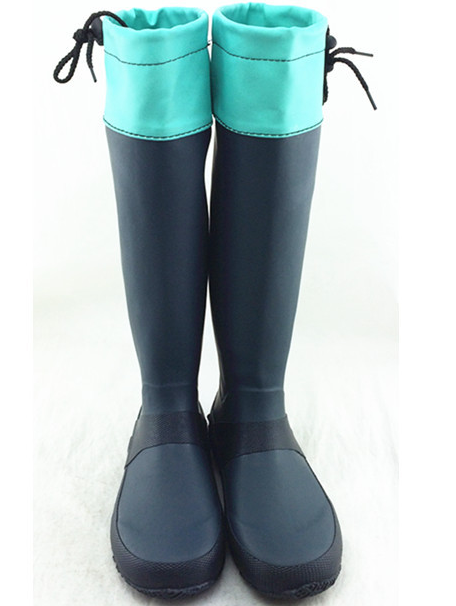2015 Wholesale ladies folding rubber rain boots SRB01