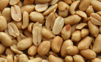 dry roasted and salted blanched peanuts
