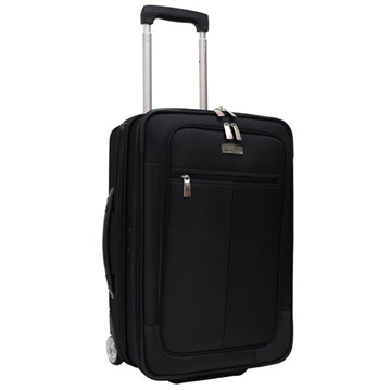 Good fabric with button iron trolley high quality luggage case with side protection