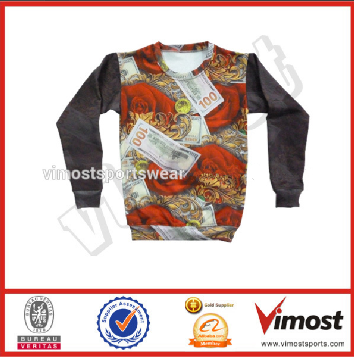 china high quality anti sweat shirt sublimated print