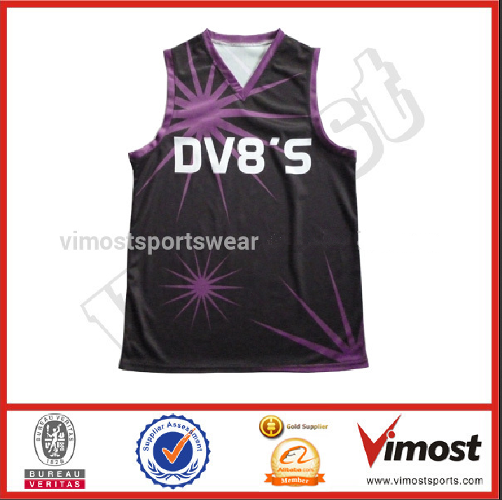 Custom made high quality team basketball shirt/ jersey uniform design