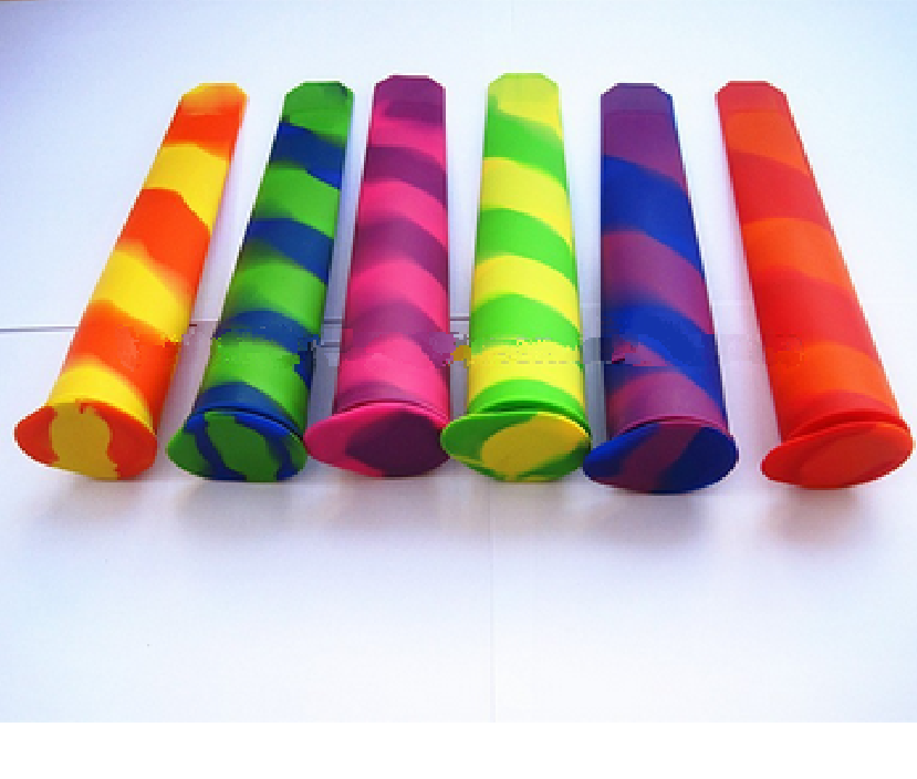 wholesale swirl color BPA free FDA approved food grade flexible reusable disposable silicone ice cream molds for ice