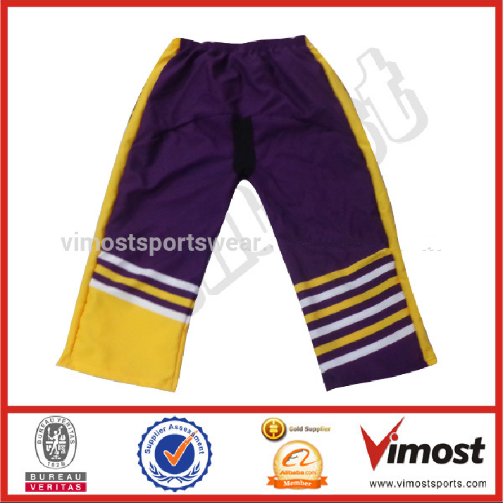 Custom sublimated ice hockey pants wholesale team&club hockey pants