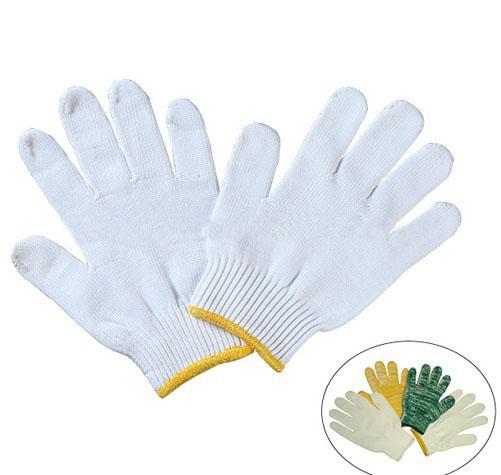 Cheap white nylon gloves for working