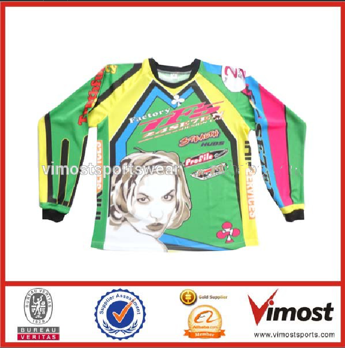 Custom made motorcycling jersey long sleeve