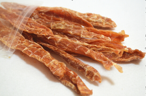 Half chicken breast cut into strips pet food for dogs natural food