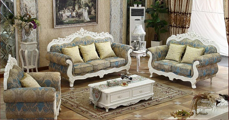 Royal Standard Corner Sofas European Style Customized Sofas Fabric Sofas