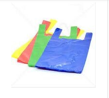 Shopping supermarket Industrial Use and Accept Custom Order Transparent t-shirt plastic bag high quality cheap HDPE