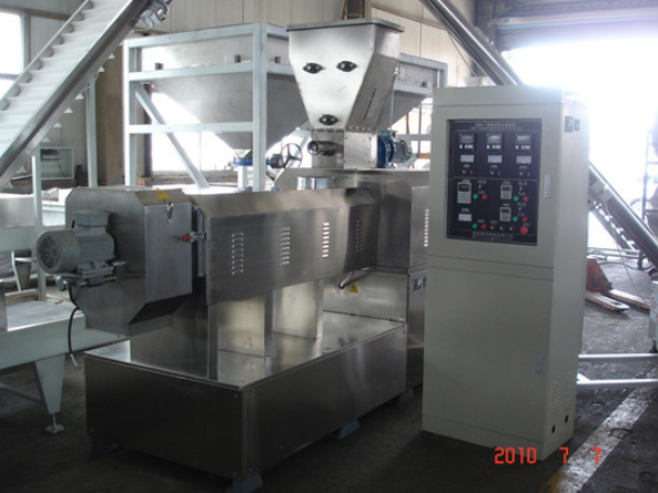 extrusion baked puffed corn snack bar processing line