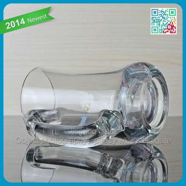 High quality german glass beer mug with handle