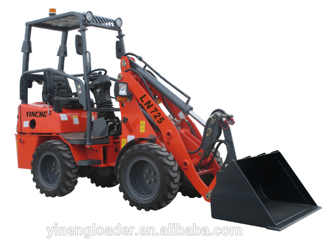 YN725 mini wheel loader Shan dong yineng perkinsengine joy stick Mini Diesel engine EU CE EPA