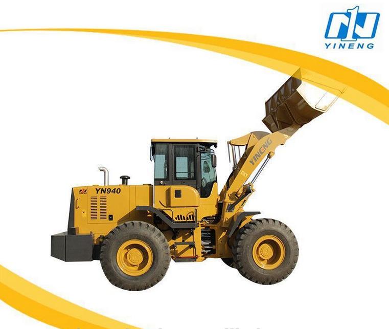 Yineng YN 940 4 tons front wheel loader 2.35cbm bucket capacity