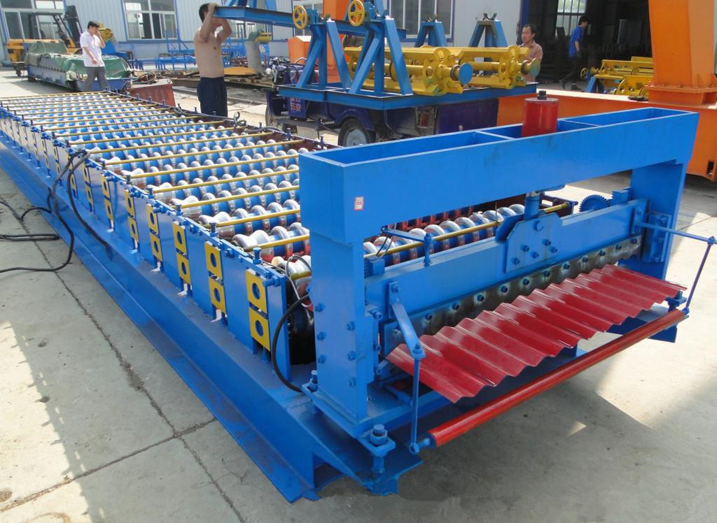 trapezoidal steel floor deck forming machine