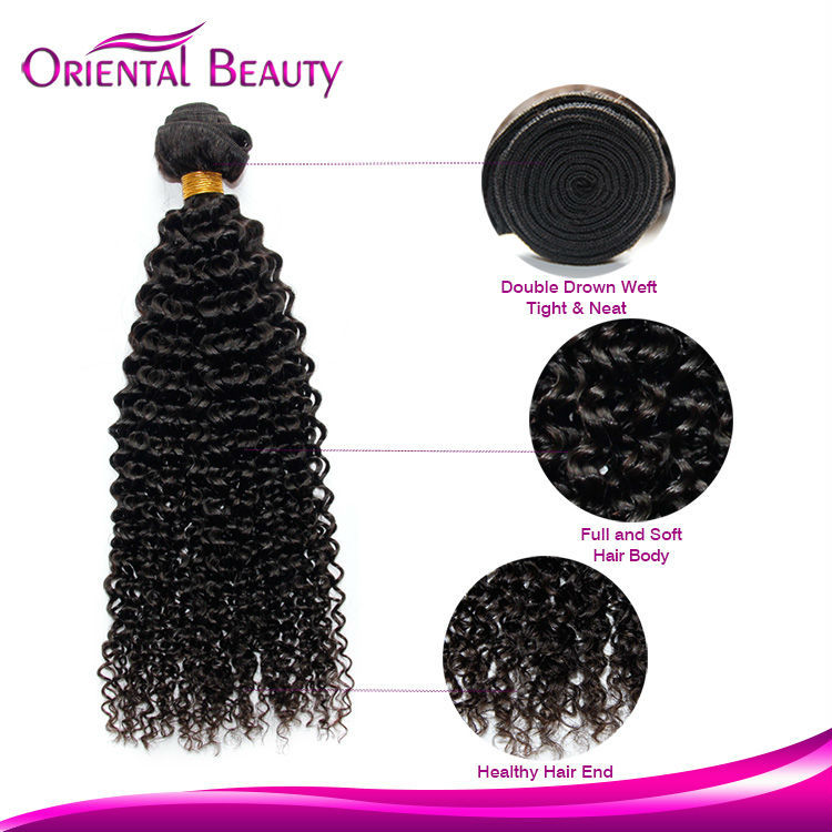 Natural unprocessed great quality Kinky Curly sexy romantic 100% virgin human hair weave